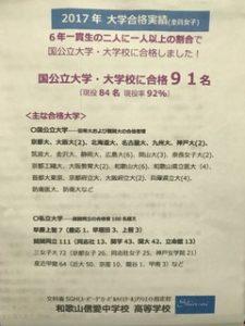 和歌山信愛中学校平成30年度信愛フェスタオープンスクール