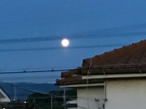 今日の月ストロベリームーン一年で一番小さい満月