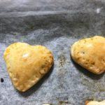 バレンタイン2019友チョコ用ハート形チョコパイ簡単レシピ|小学生中学生でも作れます